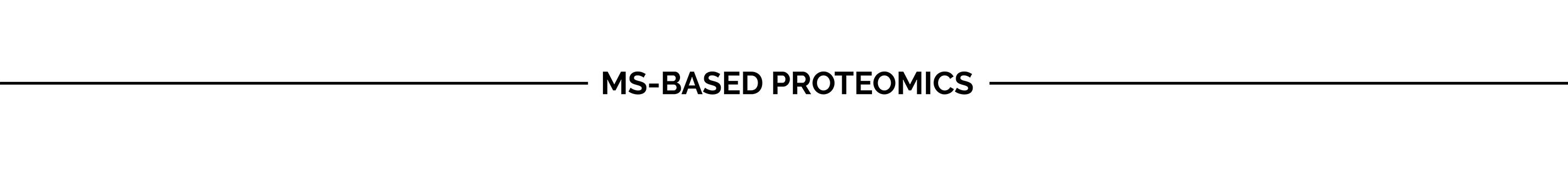 MS-based Proteomics
