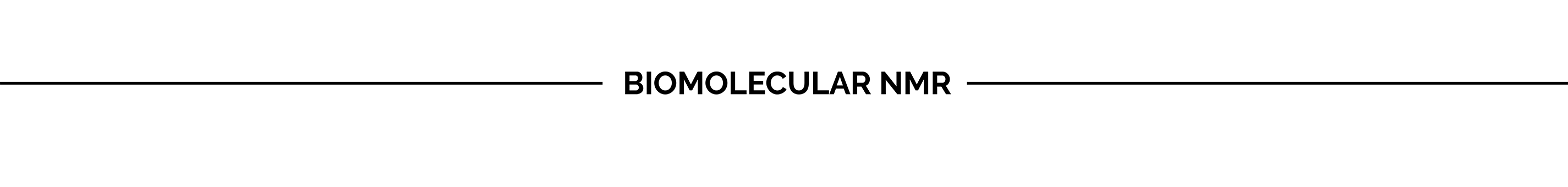 Biomolecular NMR